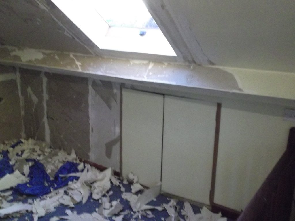 Stripping Wallpaper From Loft Room
