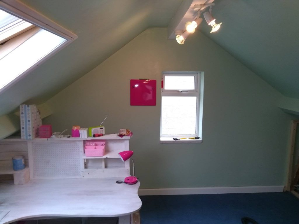 The Gable End Of The Loft Room After Refurbishment