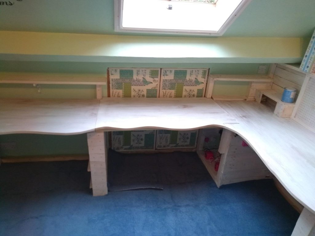Curved Bespoke Desk With Removable Panel In Place