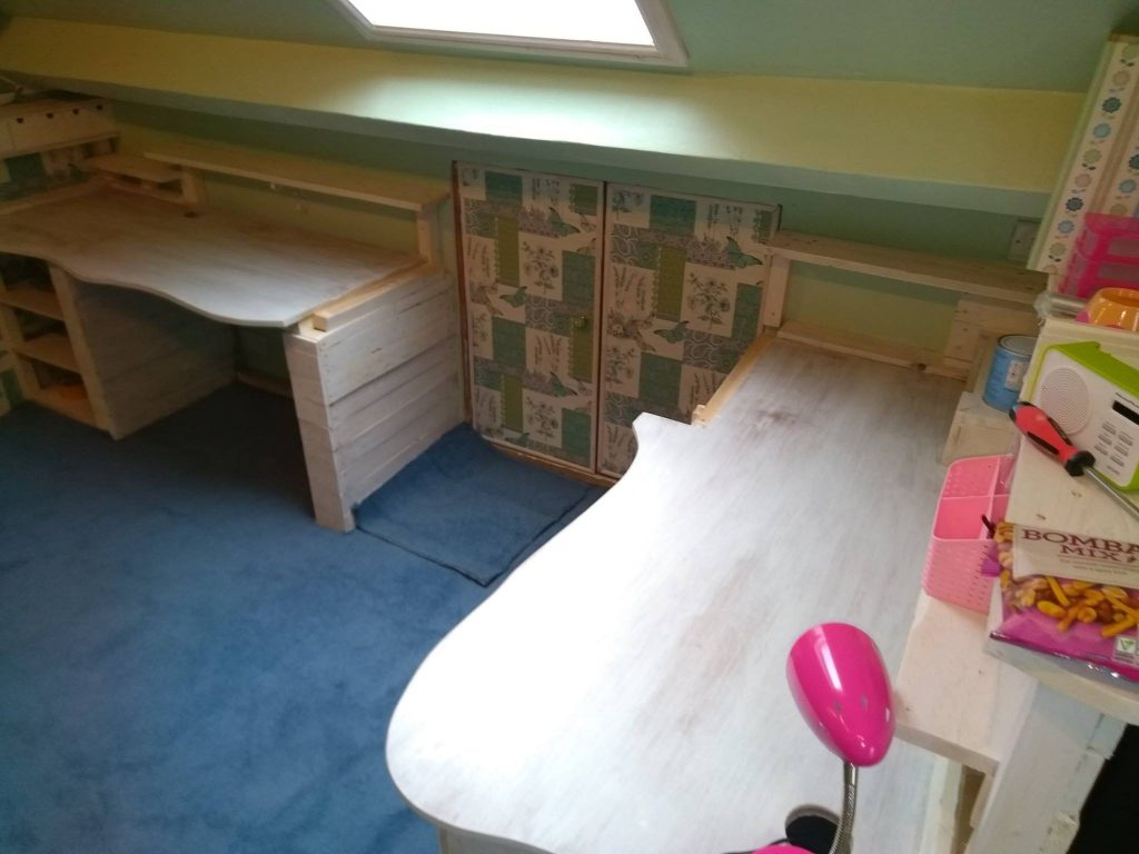 Showing The Desk With Panel Removed For Storage Access