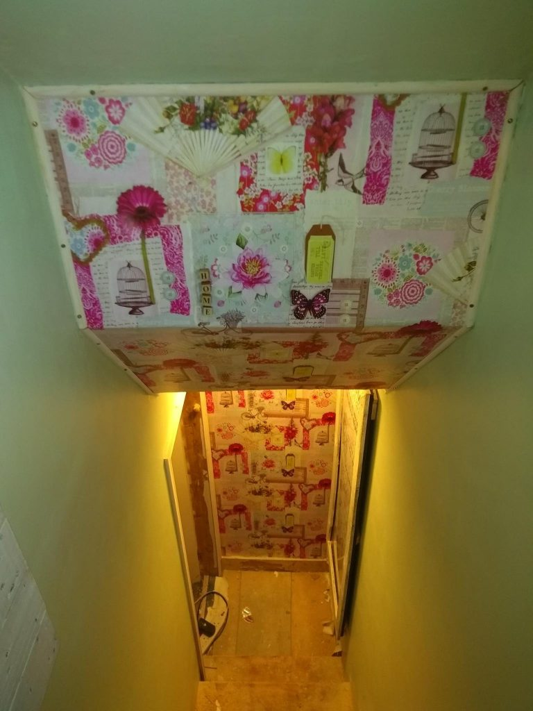 Looking Down The Loft Staircase