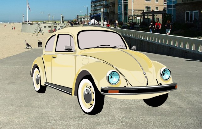Volkswagen Beetle at The Beach