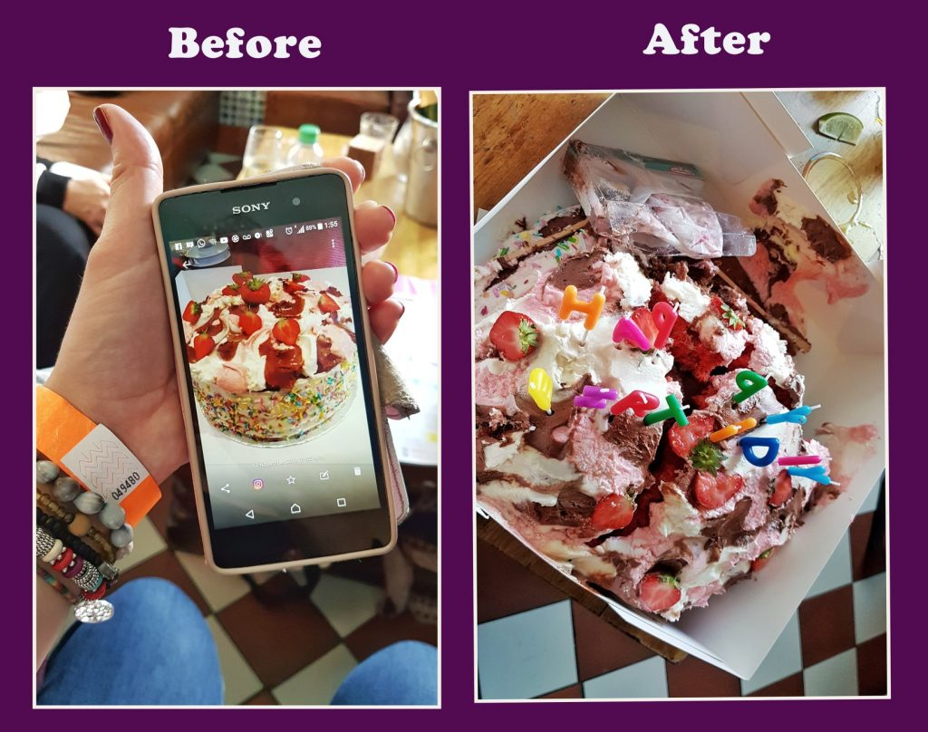 Before & After Birthday Cake