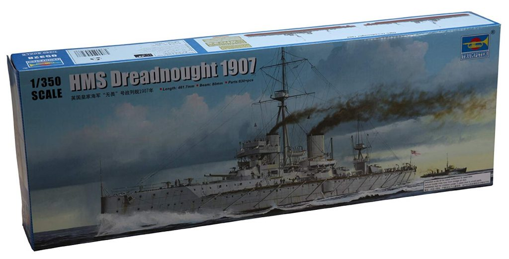 1/700th scale HMS Dreadnought British Battleship 1907 from Trumpeter