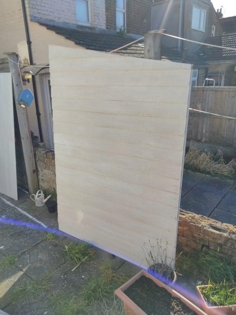 Side Panel Of Shed Undercoated