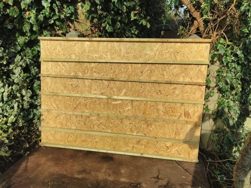 Base Of Shed With Added Supports