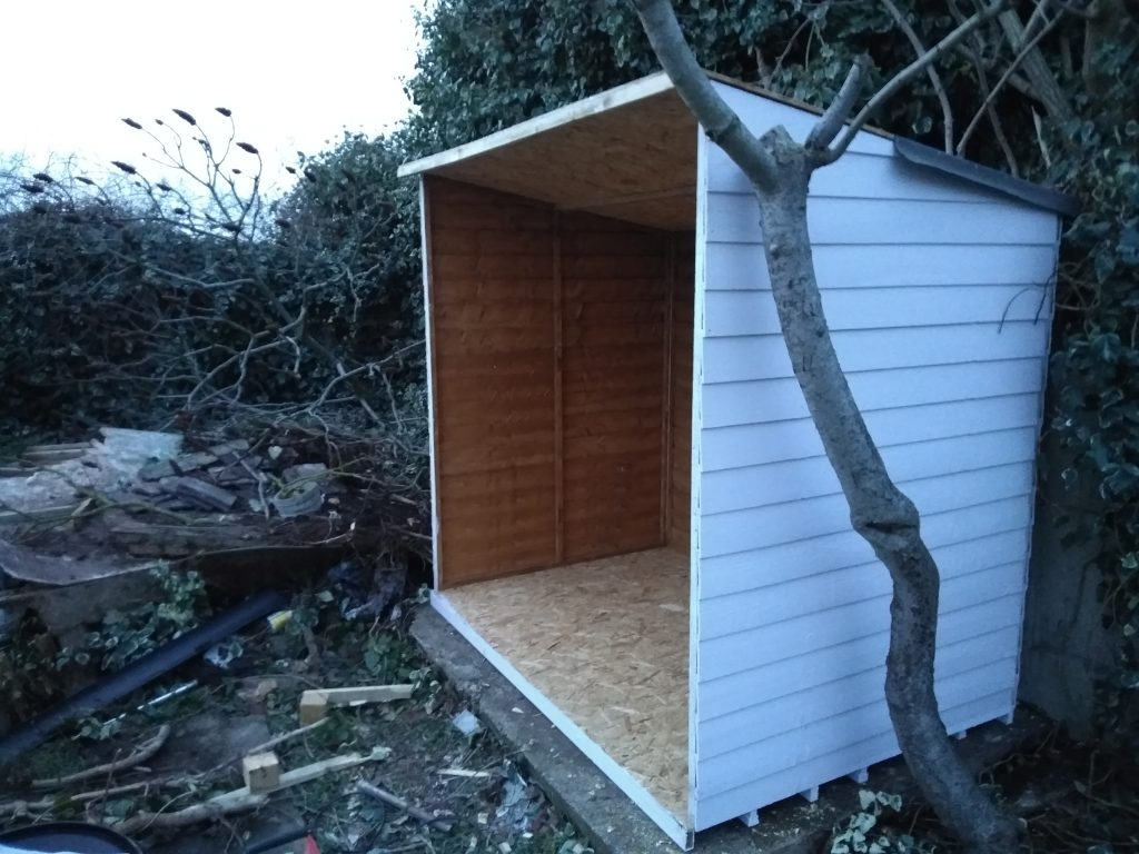 Shed Partially Built