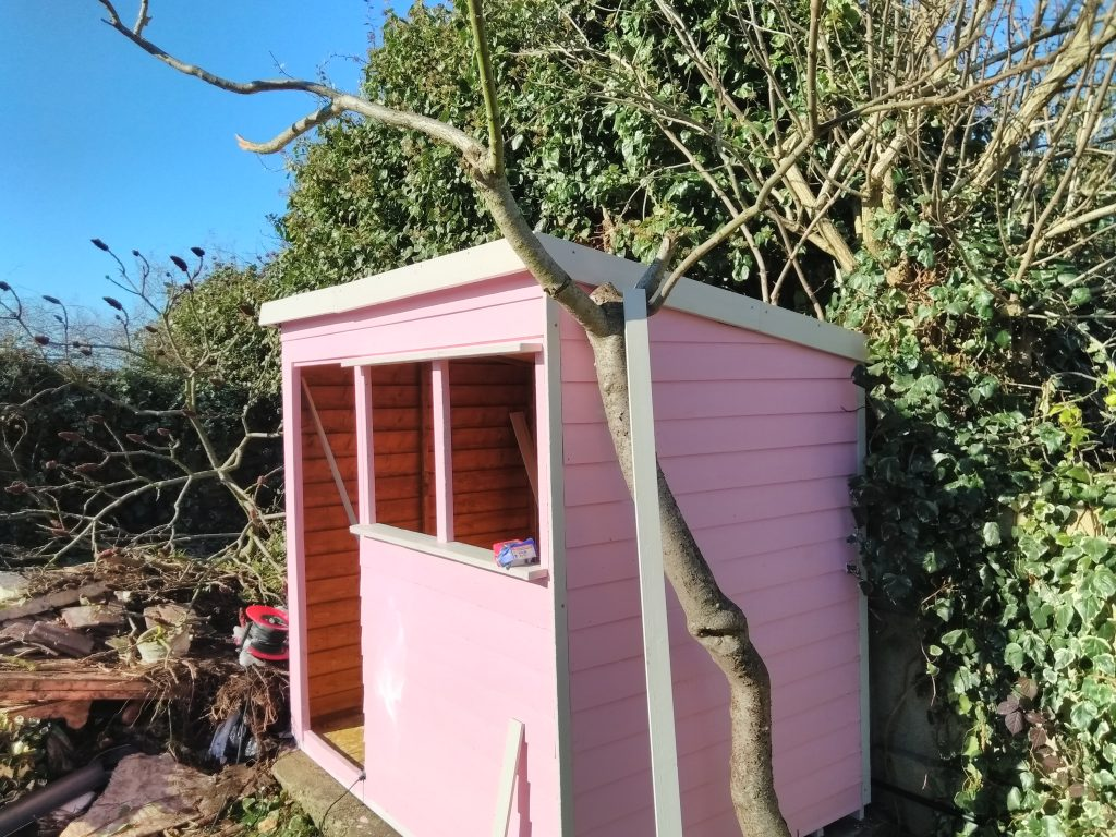 The Shed With Trim Fitted
