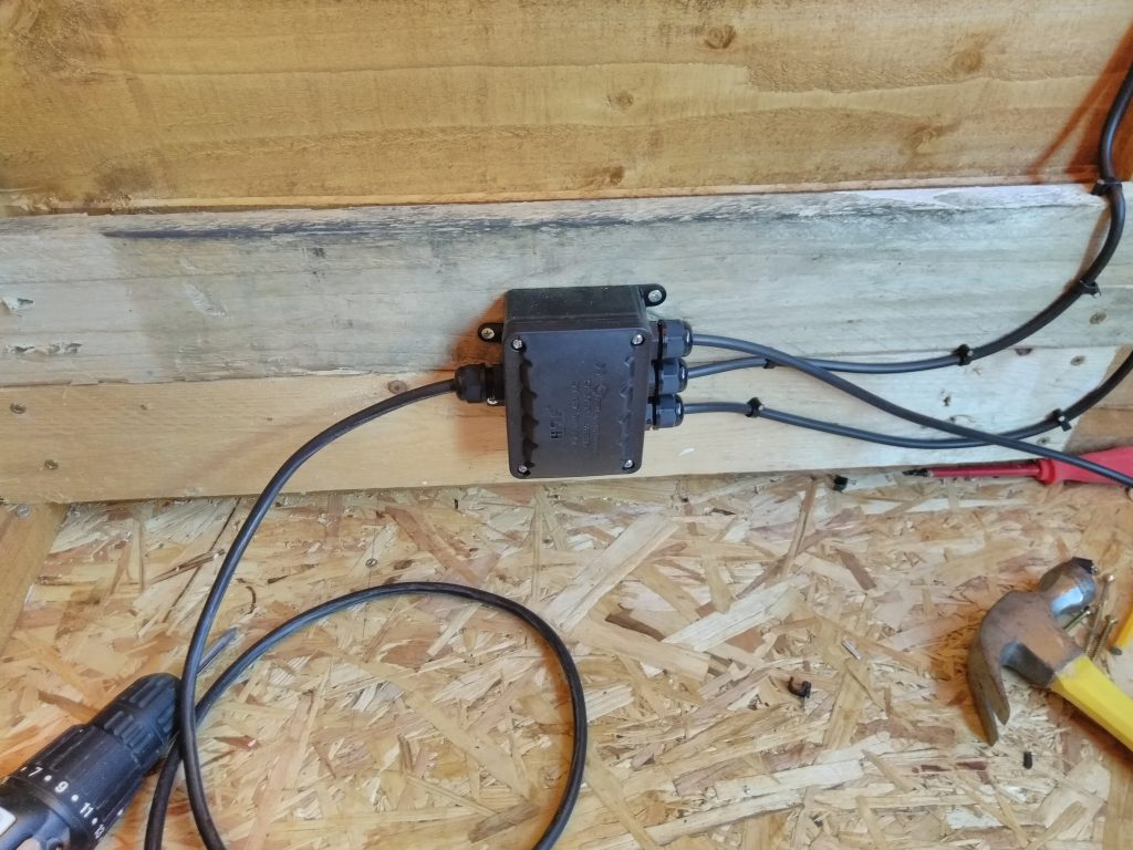 Waterproof Junction Box Fitted In Shed