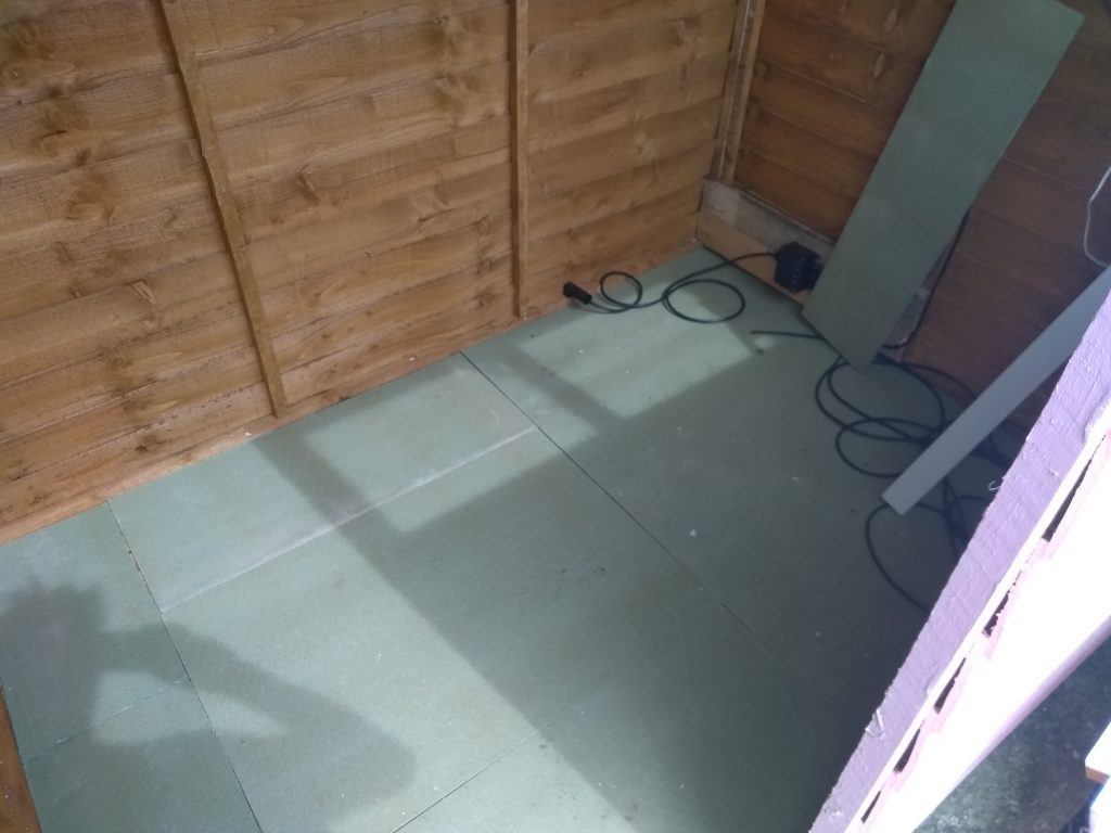Fitting Underlay In The Shed