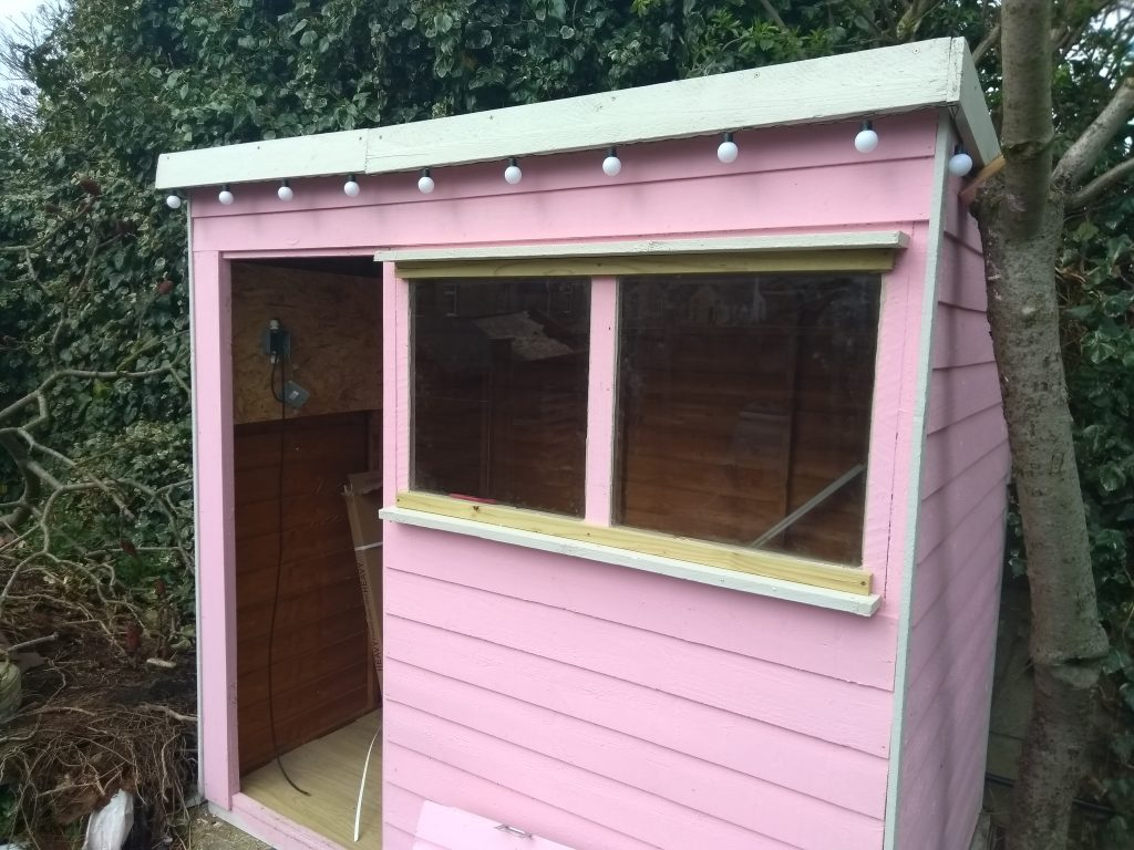 Glass Windows Fitted In Shed