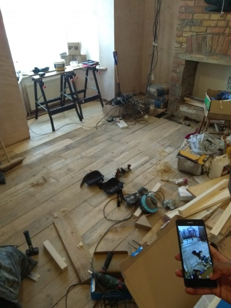 Completed Laying The Flooring In The Living Room
