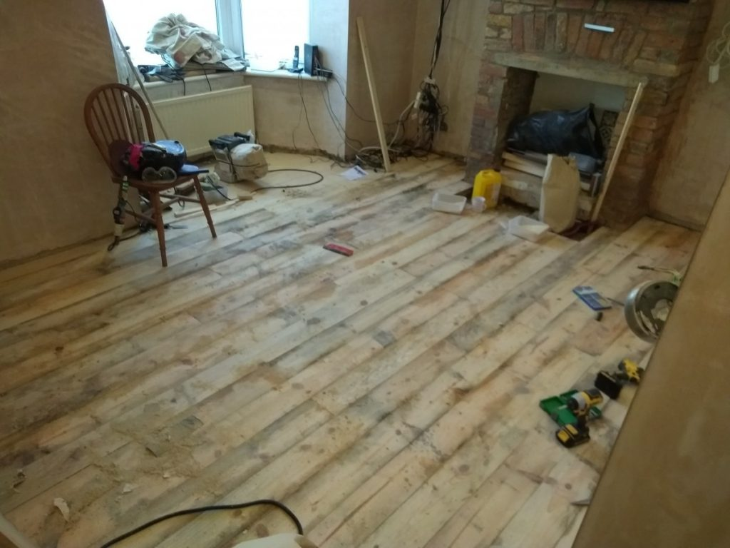 Scandinavian Larch Floor Sanded Smooth