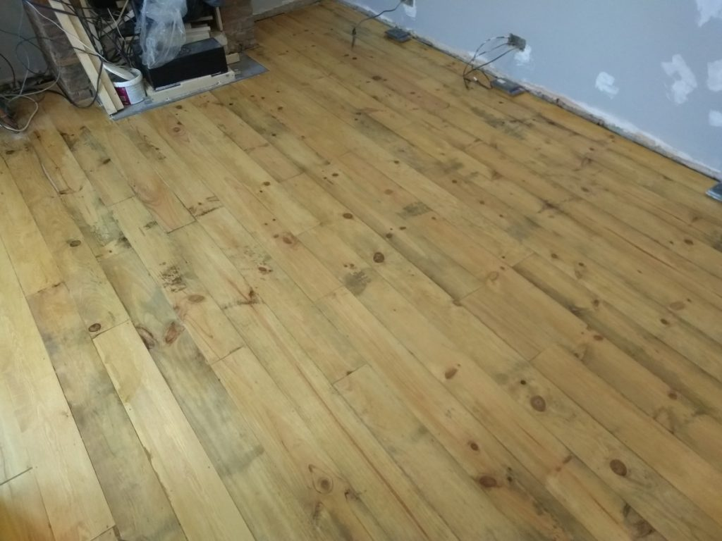 The Finished Scandinavian Larch Floor In The Living Room