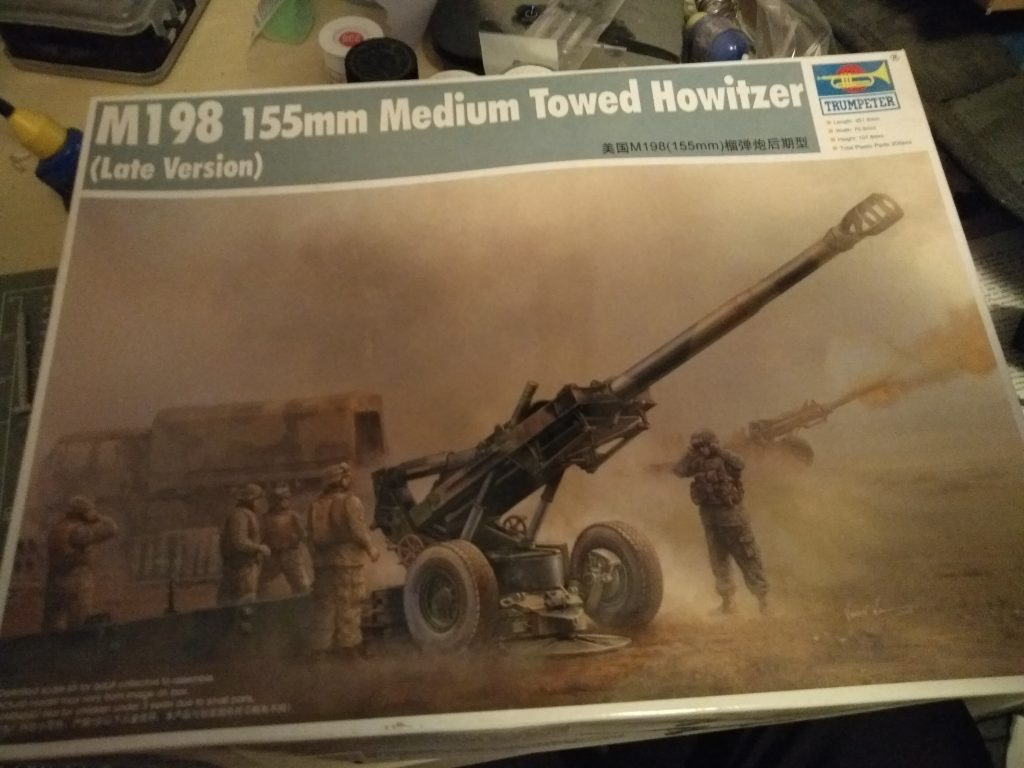 M198 Medium Towed Howitzer Late 1/35th by Trumpeter.