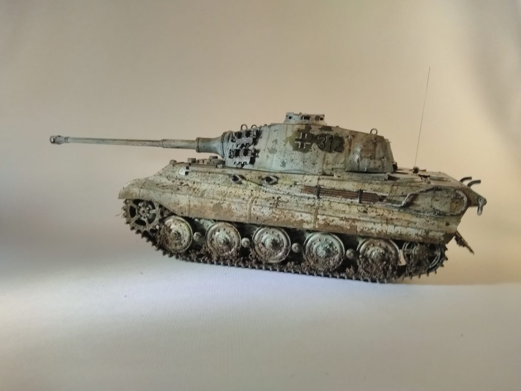King Tiger Winter Camoflage 1/35th Scale Finished Model