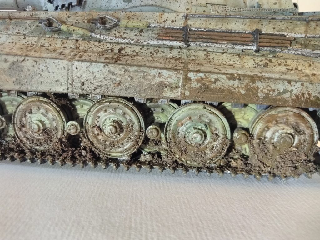 1/35th King Tiger Tracks Insane Close Up Details Of Mud Splatter