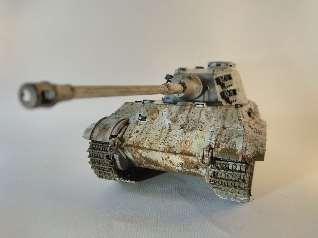 Detail Of The Front Of The King Tiger Tank Model
