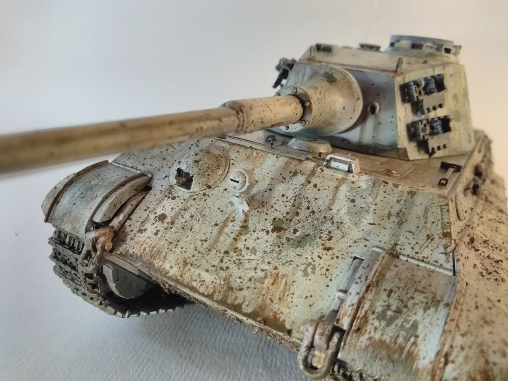 Close Up Of Details On The King Tiger Main Gun 1/35th Scale Model