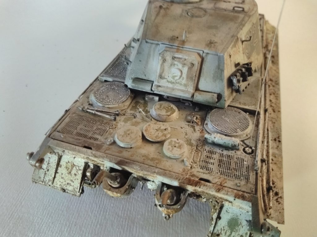 King Tiger Model Rear Deck And Engine More Mud Splatter Streaking And Streaking.