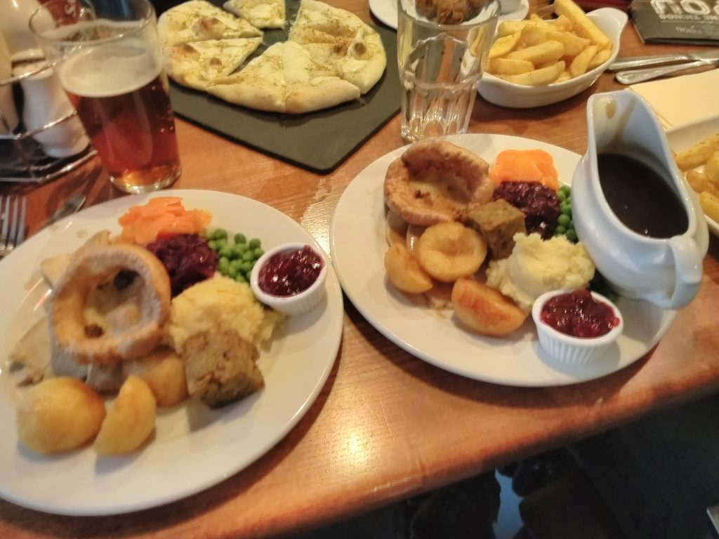 Double Roast Dinners After A Day Out In Rochester