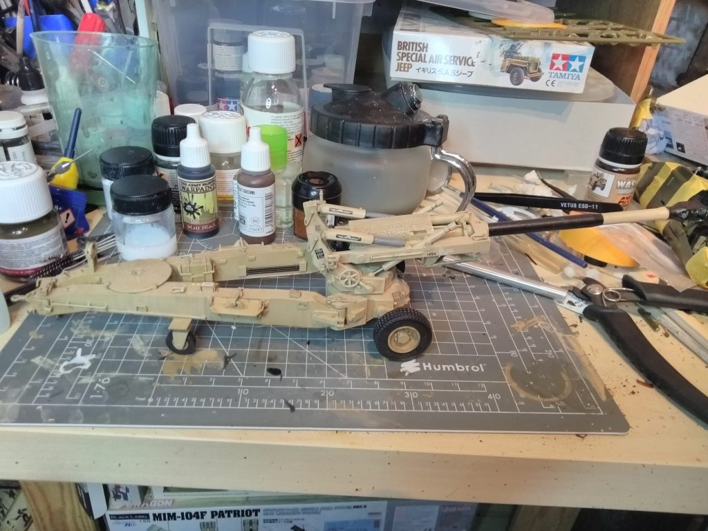 M198 Towed Howitzer Model Tyres And Rear Wheels Added