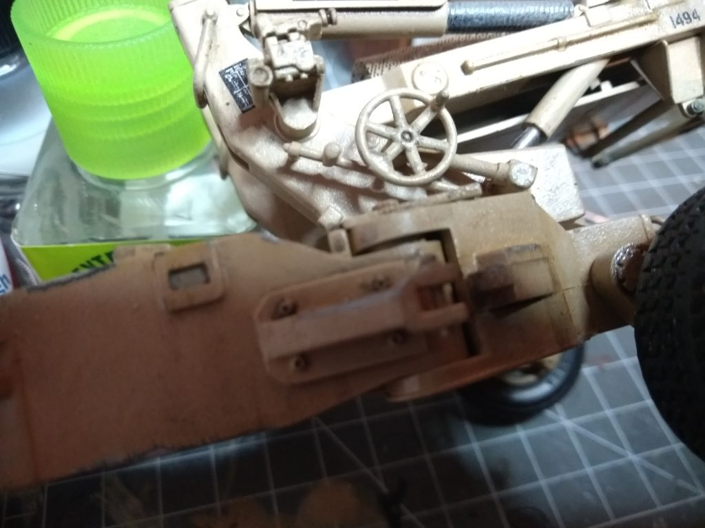 M198 Model From Academy Darker Enamel Wash To Bring Out Some Details