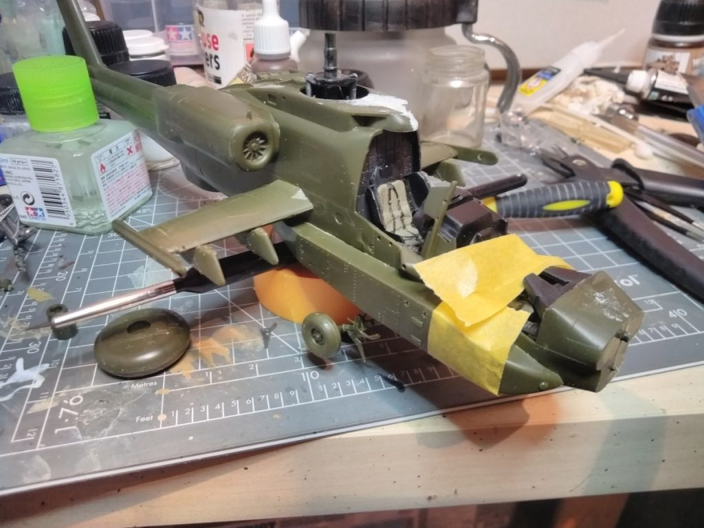 Academy Apache Ah-64 1/48 scale model Main Body Completed