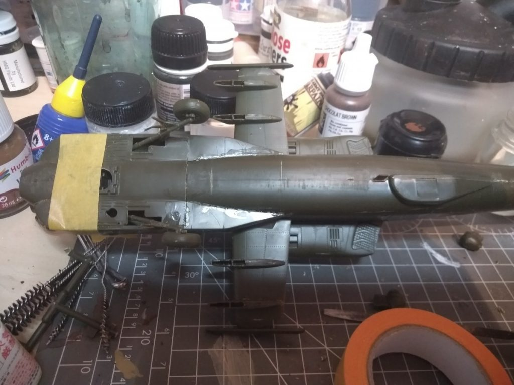 Undernath The Apache Sale Model, Landing Gear Fitted As Well As Side Pods And Wings