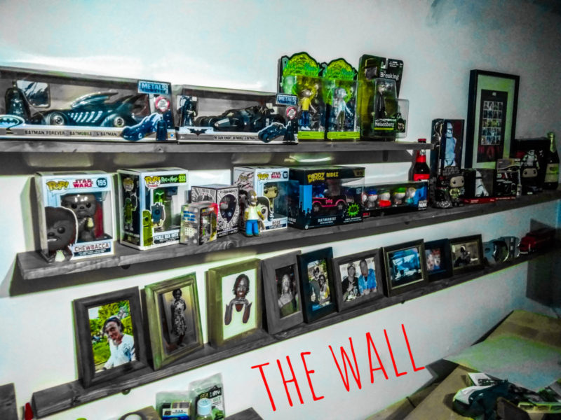 New Shelves In The Man Cave For Toys And Photos