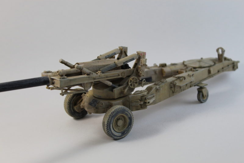Close Up Detail On M198 Howitzer Model Iraq War 2003