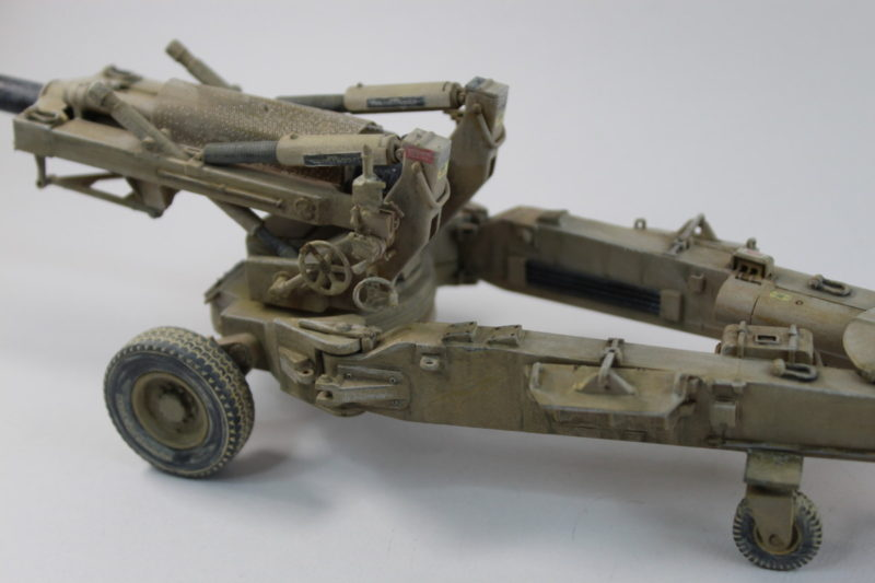 Weathering On Scale Model M198 Towed Howitzer