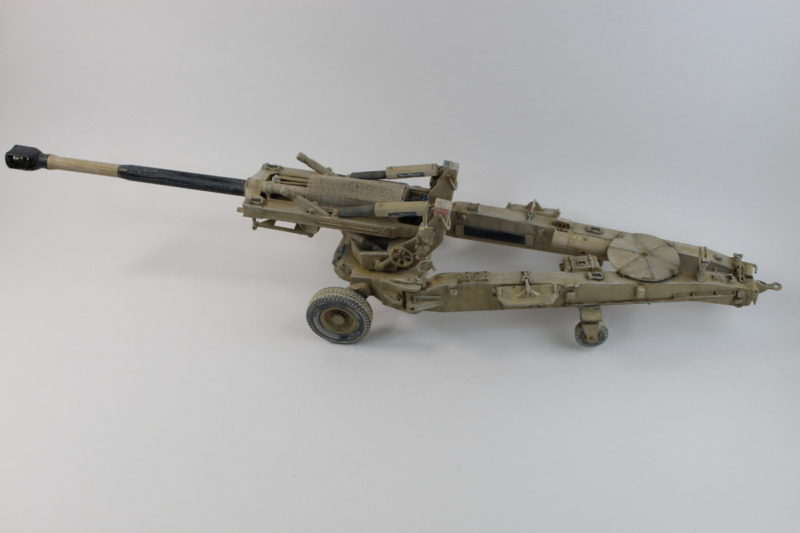 Weathered And Painted Trumpeter M198 Howitzer
