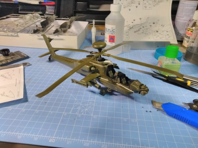Longbow Apache Scale Model Test Fitting The Rotor Blades.
