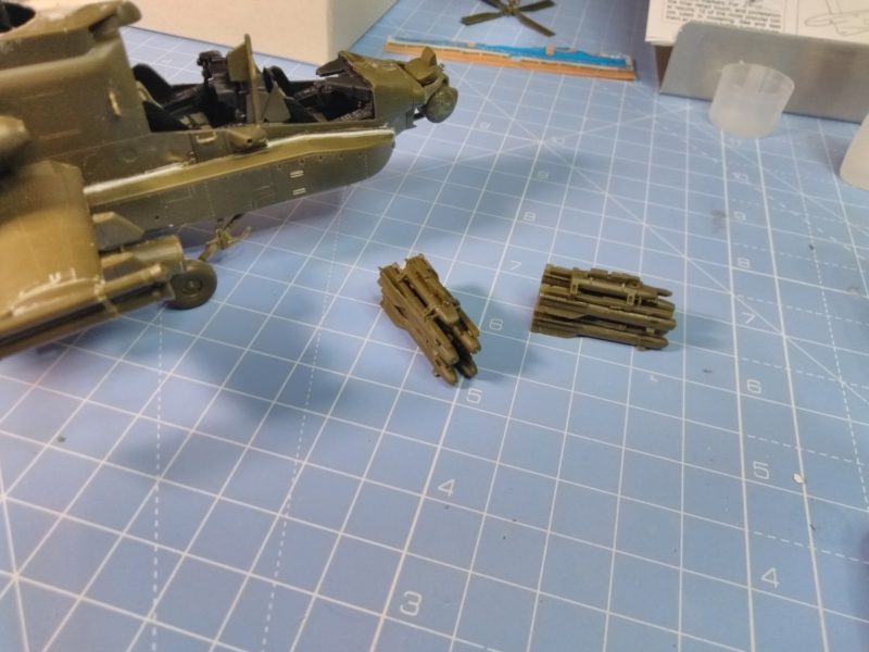 Finished The Missiles On The Apache Scale Model