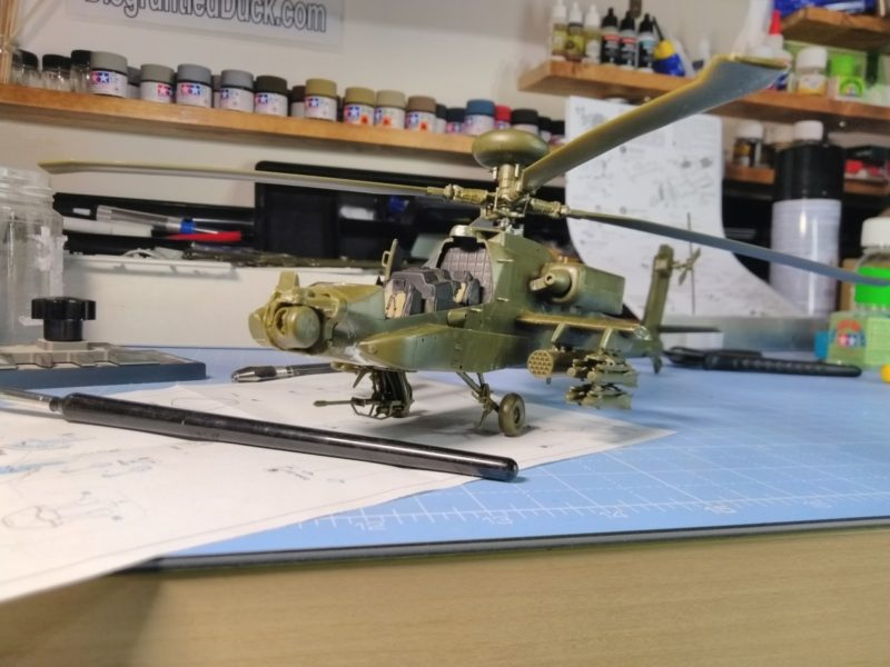 90% Of The Academy Longbow Apache Model Completed, A Couple More Parts And It Will Be Ready For Painting