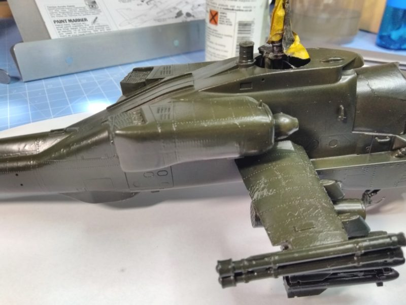 Nearly Ruined The Academy 1/48 Scale Apache Helicopter Model