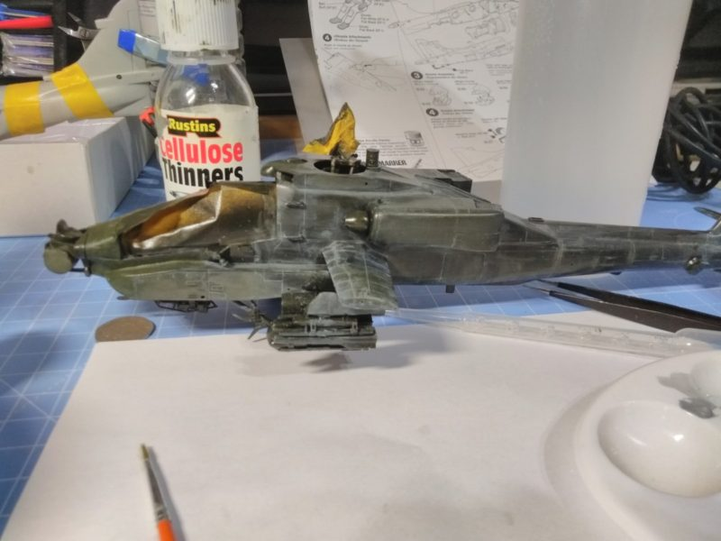 Starting The Weathering On The Academy 148 Longbow Apache