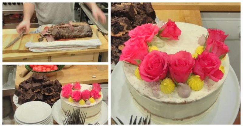 Roasted Beef Strip Loin And Birthday Cake