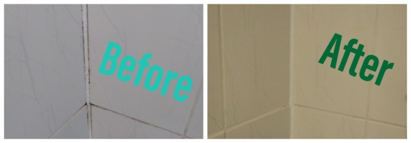 Grout cleaning and replacing sealant in the shower cubicle