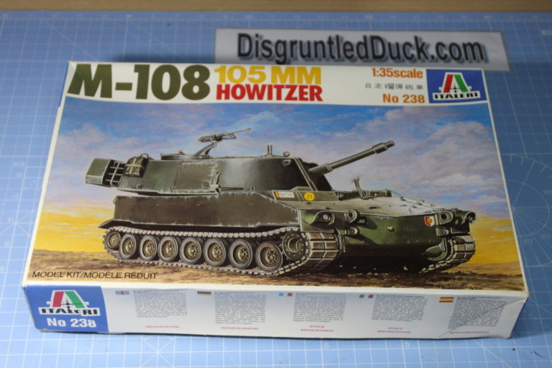 scale model Italleri M-108 105MM Howitzer