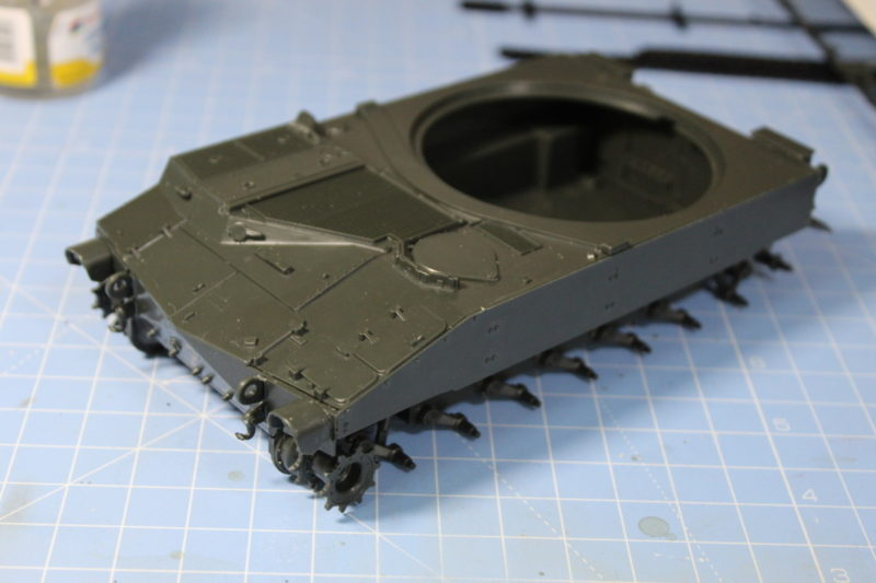 Completed The body of the Italeri US Army M-108 105mm Howitzer