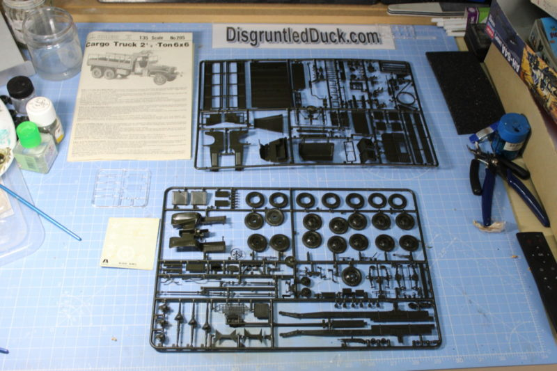 The Sprues from the Italeri Cargo Truck scale model