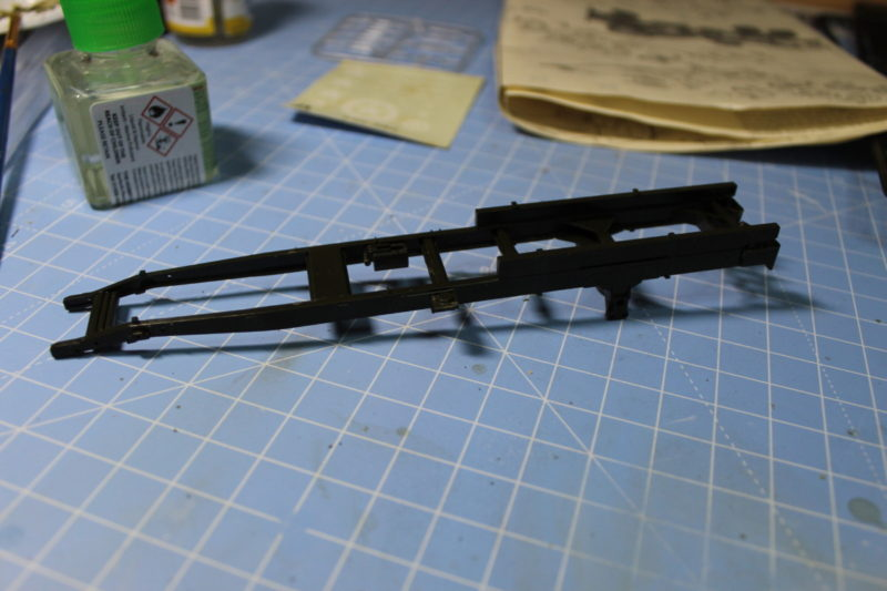 first part of the cargo truck chassis completed