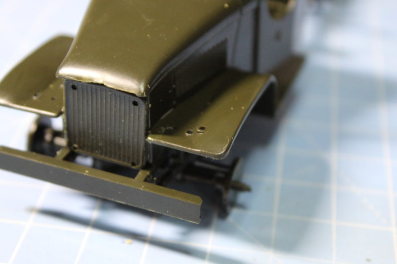 front of the scale model cargo truck up close