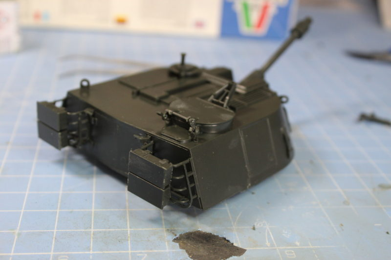 Turret of the m108 scale model completed