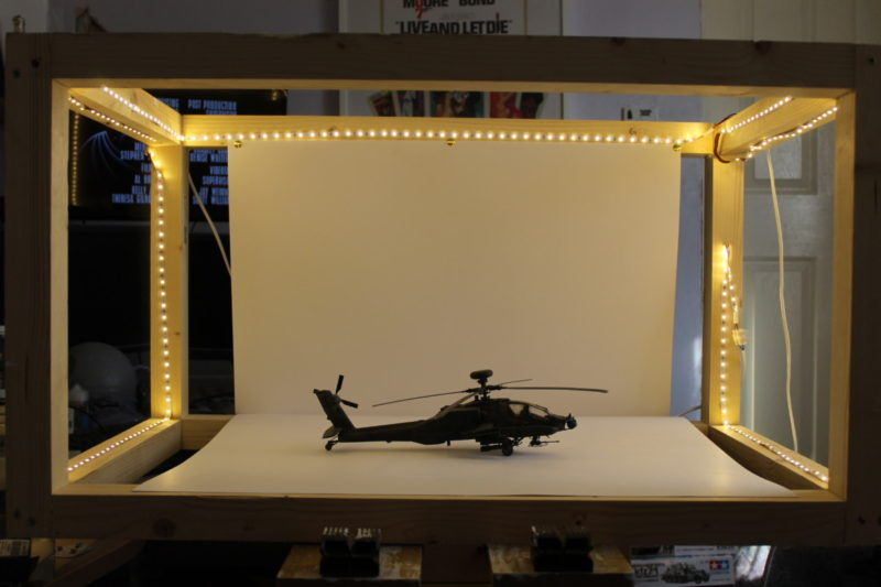 The new lightbox with strips of LED lights