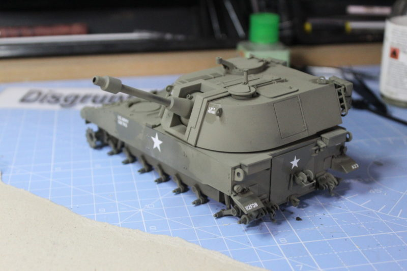 The decal have now been placed on the M108 scale model