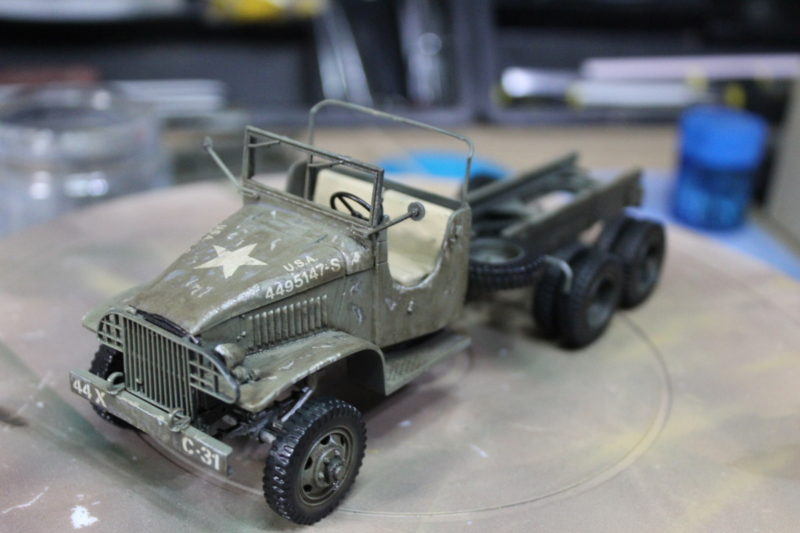More Details and a wash applied to the cargo truck model