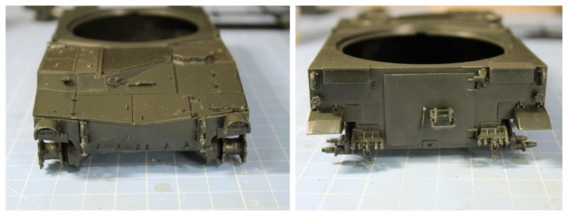 m108 howitzer front and back of the hull finished